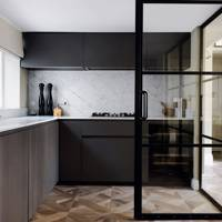 Modern Kitchen With Crittall Doors