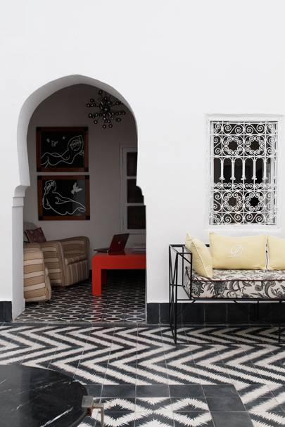 Monochrome Tiles in Marrakesh