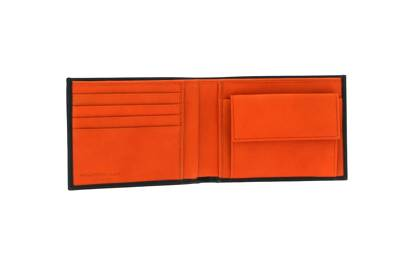 August 26: Draycott Wallet in Espresso and Orange Leather, £80