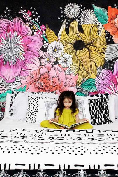 DIY Kids Room Wall Mural
