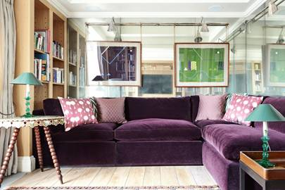 Purple Velvet Sofa