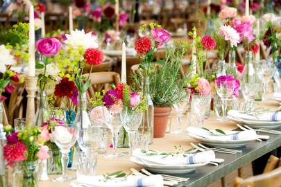 Flower Pot Table Decorations