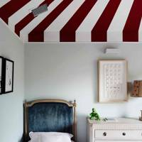 Kid's Bedroom with Circus Ceiling