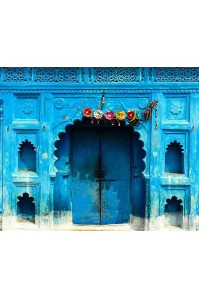 Blue India Door - Door J'adore
