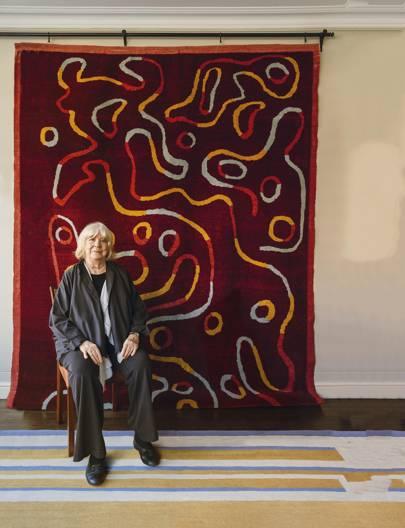 A new retrospective exhibition at Afridi Gallery celebrates the work of the carpet designer Sandy Jones