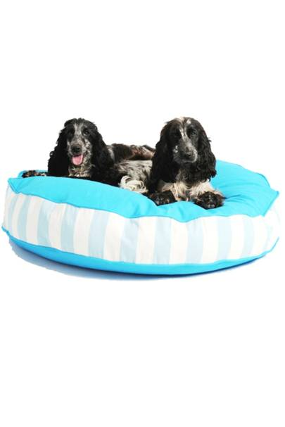 July 13: Bon Bon Soft Dog Bed in Blue Stripe, £83.99, from Lords and Labradors