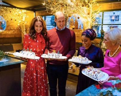 Duke and Duchess of Cambridge join Mary Berry for a festive cooking show