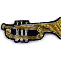 Hand-embroidered Cannetille Trumpet Brooch