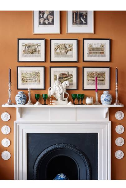 Living Room Colours - orange