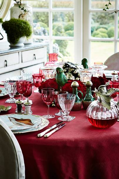 Red & Green Christmas Table