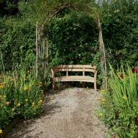 Create a Canopy For Your Garden Bench | Country Garden Design Ideas