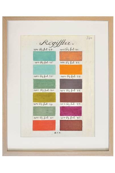 17th Century Paintbox Colour Palette No 2