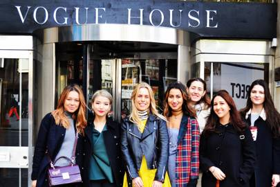Students visit Vogue