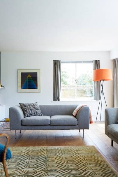 Drawing Room Sofa - Modern Colourful Thirties House