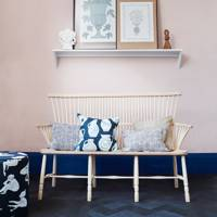 Pink Hallway with Ash and Elm Bench