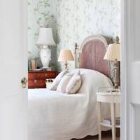 White & Green Bedroom