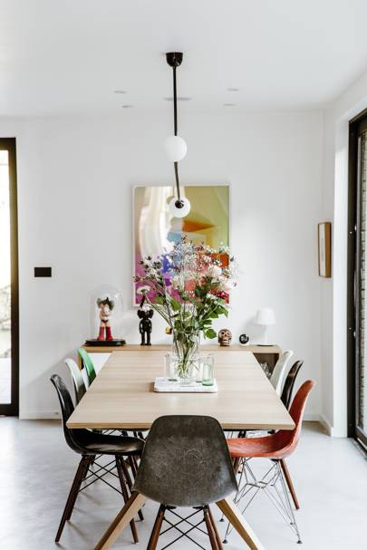 Open-plan dining room