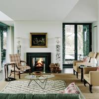 Living Room Fireplace - Flint House