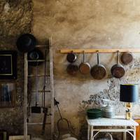 Storage Space in Rustic French Kitchen