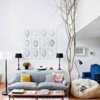 An art filled Living Room | Living Room Design Ideas
