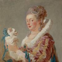Jean-Honoré Fragonard (1732–1806): Portrait of a Woman with a Dog