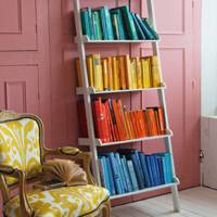 Arrange a Rainbow Bookshelf