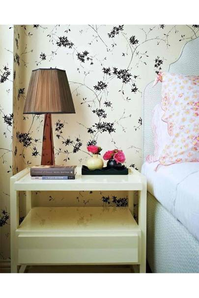 Rita Konig Monochrome Floral Wallpaper