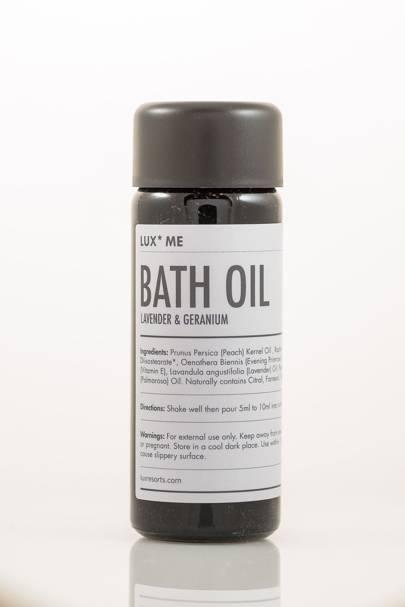February 6: LUX* Me Bath Oil, Lavender & Geranium, £26.50