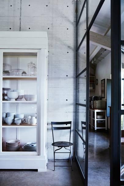 Glass Kitchen Area