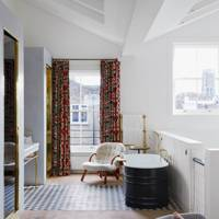 Small space mezzanine bathroom