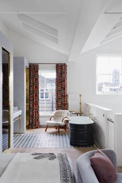 Mezzanine bedroom and bathroom