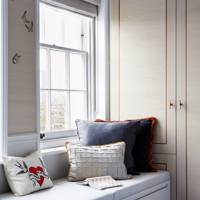 Bedroom Storage in Banquette Seating