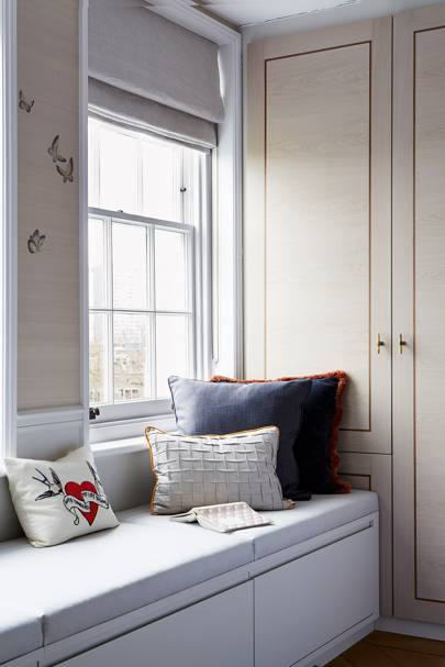 Hygge: Bedroom Storage in Banquette Seating