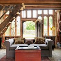 Living Room Sofa - 18th Century Rustic Barn