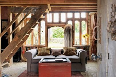 Living Room Sofa - 18th Century Rustic Barn
