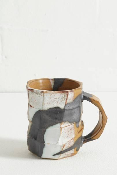 Wood Ash Glaze Sculptural Stoneware Mug