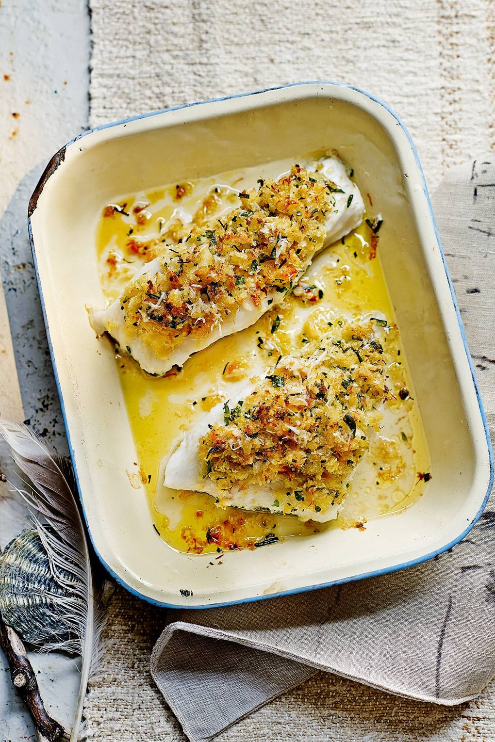 Cod Fillet Recipe With A Crab And Herb Crust House Garden
