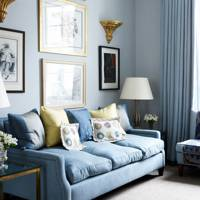 Chelsea living room with blue-grey scheme