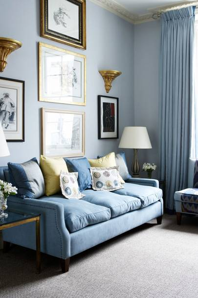 Chelsea Living Room With Blue Grey Scheme