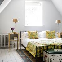 Bright White Attic Bedroom