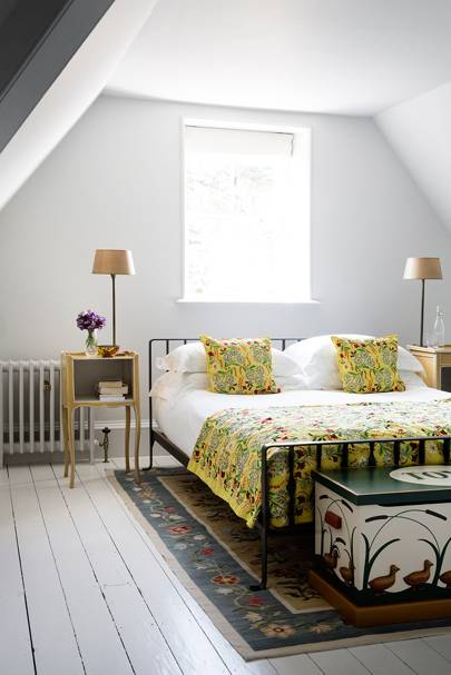 Small White Attic Bedoom