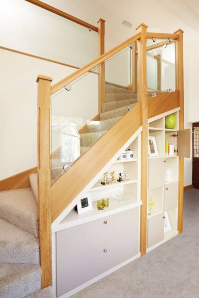 Storage Space Under Stairs Living Room Storage Ideas House