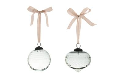 December 2: Kelly Hoppen Sanded Glass Baubles in Grey (set of two), £20