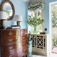 Small Pale Blue Entrance Hall