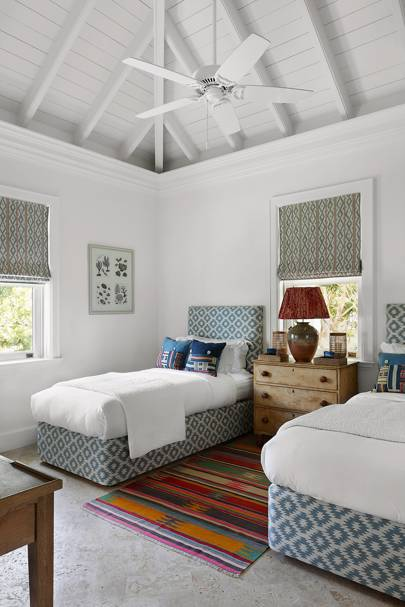 White Twin Bedroom Beach House
