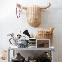 Kitchen Shelving - At Home: Calm Brooklyn Apartment | Real Homes