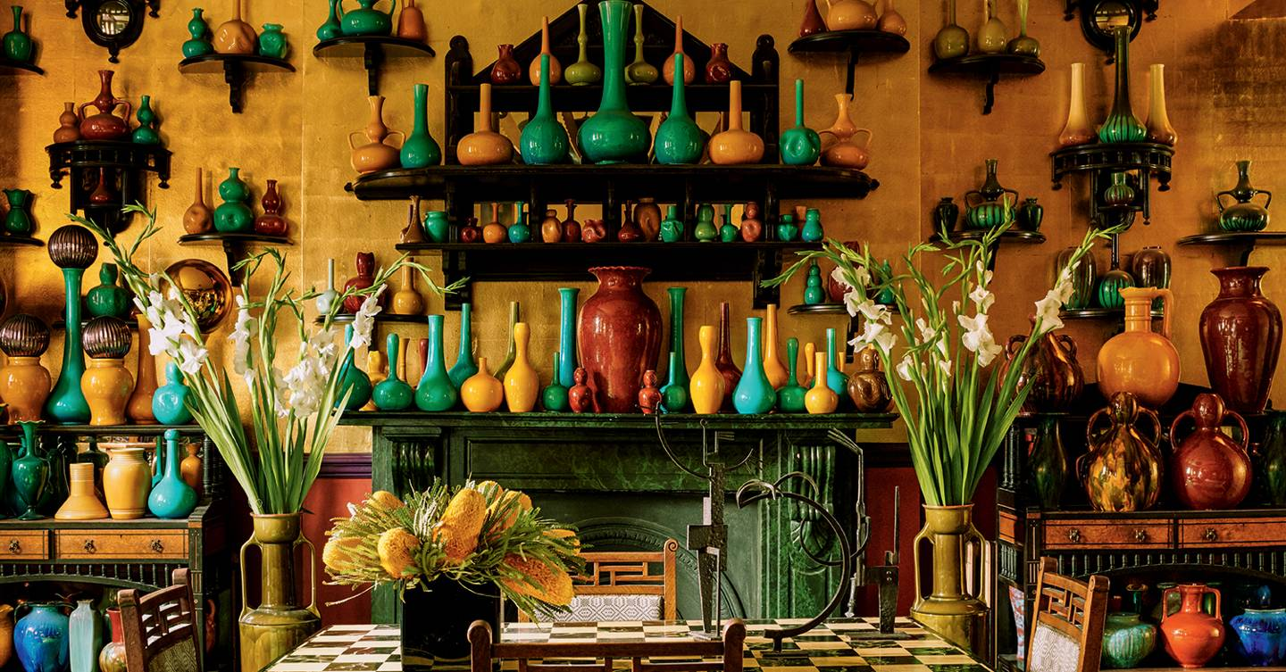 The eclectic, colourful, art-filled house of designer Anthony Collett