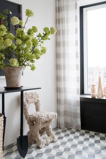 String Chair - Calm Brooklyn Apartment
