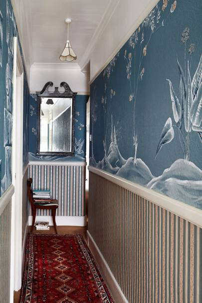 Blue Chinese Mural