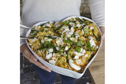 January 10: The White Company Large Porto Stoneware Heart Oven Dish, £40